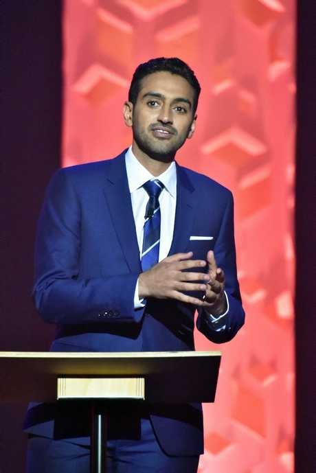 Waleed Aly in a scene from the 2015 Melbourne Comedy Festival Debate. Supplied by Channel 10. Please credit photo to Jim Lee.