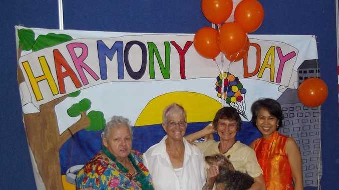 Carole Murray, Joy Davidson-Lee, Andi Jaemjamrat and Maria Rickerrt at Harmony Day Photo: Contributed