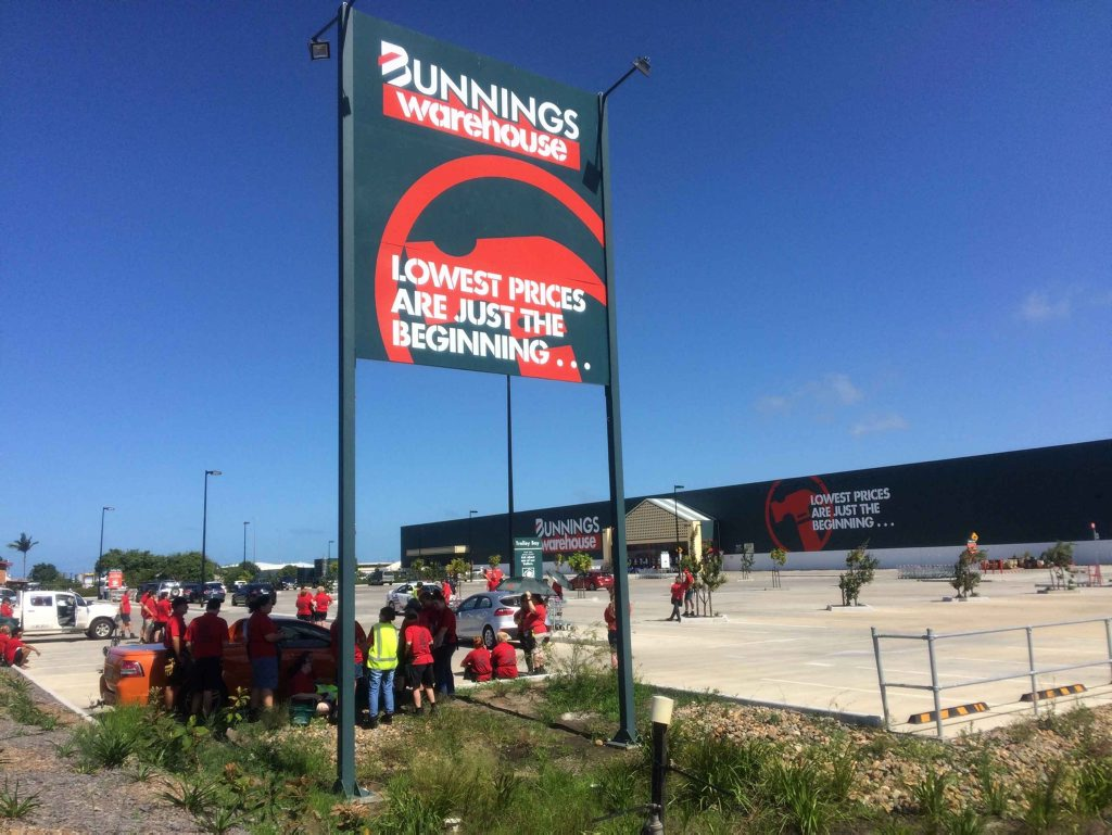 Paget Bunnings evacuated.