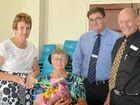 AWARDS HONOUR: Councillor Faye Whelan, general manager David Wiskar and Mayor Don Waugh with local woman Barbara Burnett, who nominated the council.