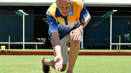 CLUB BIAS: Long-time member Ray Steen, a bowler since 1968, bowls into the future at a revamped, fresh-looking Souths Suburban Bowls Club.