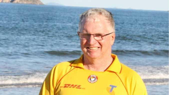 FUTURE PLANS: Emu Park Surf Life Saving Club volunteer John Phelan met with Member for Keppel Brittany Lauga this week