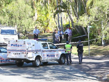 Police investigate the shooting death at a home in Outlook Dr at Tewantin.
