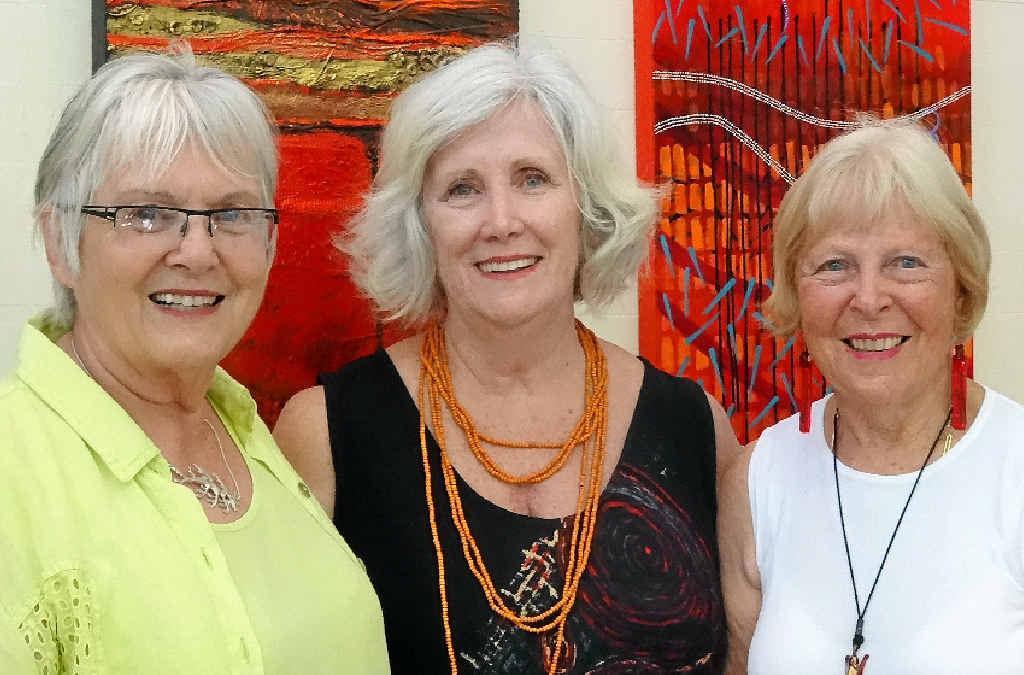 THINK NOOSA: Noosa Open Studios organising committee members (from left) Gabi Dick, Chris Pritchard and Trish Bradford.