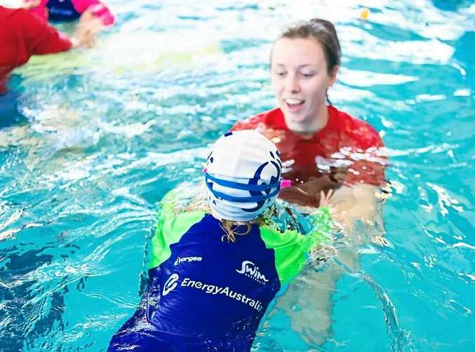TAKING THE PLUNGE: Kids will learn vital water safety skills next week.
