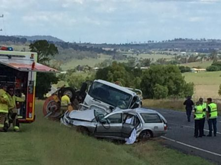 One person has been killed in this crash at Vale View near Toowoomba.