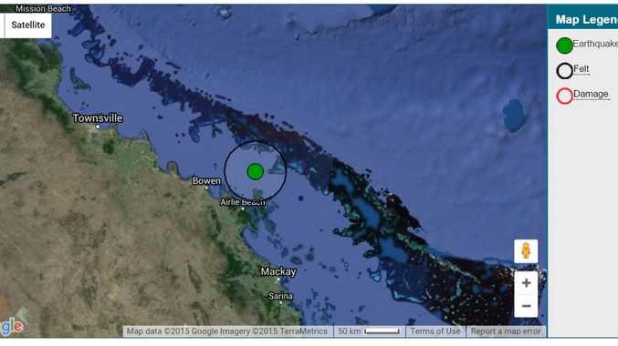 Geoscience Australia has reported an earthquake off Hayman Island