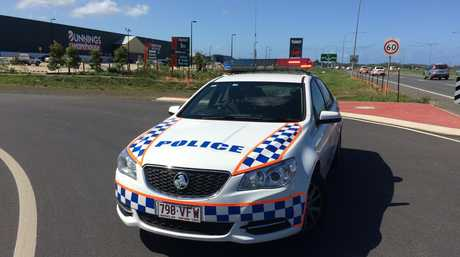 Police are stationed at North Mackay Bunnings after an evacuation