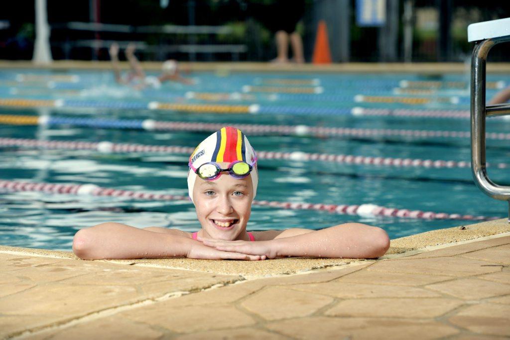 Western Aquatics swimmer Ella Ramsay, 11, is preparing for the Pacific School Games. Photo Inga Williams / The Queensland Times