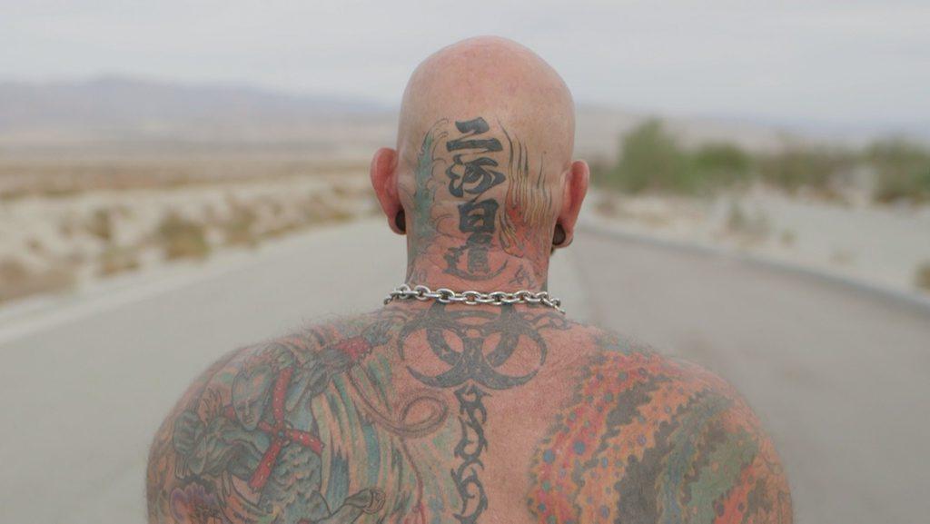 A still from the film Desert Migration (2015) by Australian filmmaker Daniel Cardone.