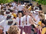 Good Shepherd Lutheran College Year 12 students participate in the `Walk of Honour' as they come to the conclusion of their school years.