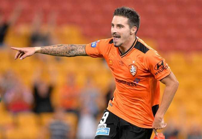 Brisbane Roar striker Jamie Maclaren. Photo: Bradley Kanaris/Getty Images