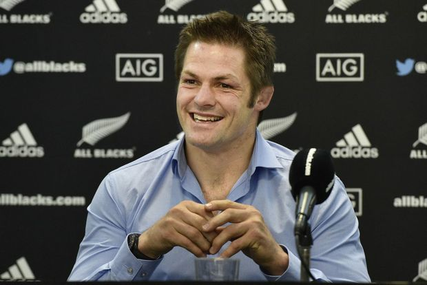 Richie McCaw at his press conference yesterday.