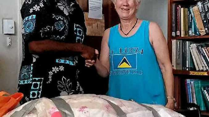 GENEROUS COMMUNITY: Four tonnes on goods collected from the Airlie Beach community included fishing gear, bags of rice, books and first aid supplies.