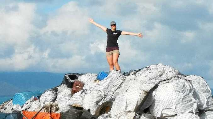 RUBBISH HAUL: All the rubbish collected during the south islands mission. Photos: Contributed