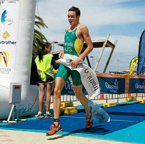 EYES ON RIO: Under-23 world triathlon champion Jake Birtwhistle will headline the Hamilton Island field on Saturday.