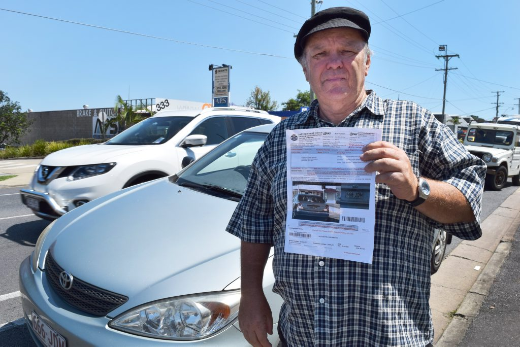 NOT FINE: Ray Brown is fighting a speeding fine because he believes the photo of him allegedly travelling at 49km/h was taken while he was parked at a traffic light.