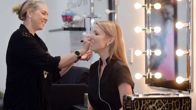 Corissa Ivory from Funk It Up Make Up and Nicole Knapman Photo Tony Martin / Daily Mercury