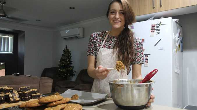 CHRISTMAS TREATS: Jasmin Hartley has started preparing sweets for the Christmas Markets on Sunday. Photo Lucy Smith / Daily Mercury