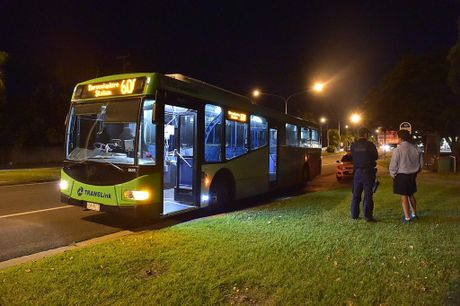 Police investigate the assault and robbery of a Sunbus driver on Nicklin Way at Minyama.