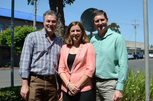 Shadow treasurer John-Paul Langbroek, Member for Nanango Deb Frecklington and Opposition leader Lawrence Springborg will meet with other members of the LNP for the State Council in Kingaroy.