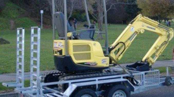 Stolen trailer and excavator.