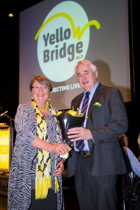 YellowBridge QLD CEO Penny Hamilton with Mayor Cr Paul Antonio at yesterday's launch.