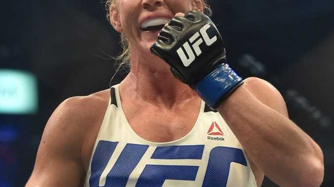 Holly Holm after defeating Ronda Rousey in Melbourne last Sunday.