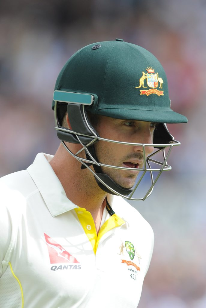 Shaun Marsh after being for one of his seven Test match ducks. Photo: AAP Image