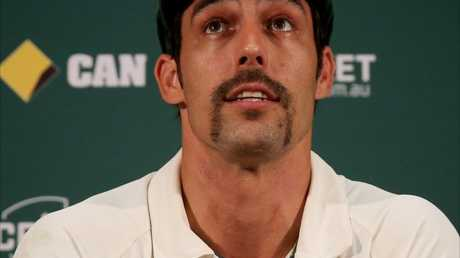 Now retired Australian cricketer Mitchel Johnson boasts an impressive moustache.