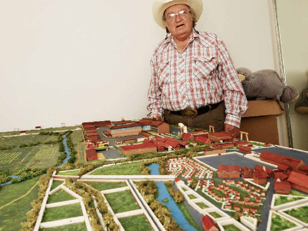 BIG PLANS: Roger Bower with his scale model of