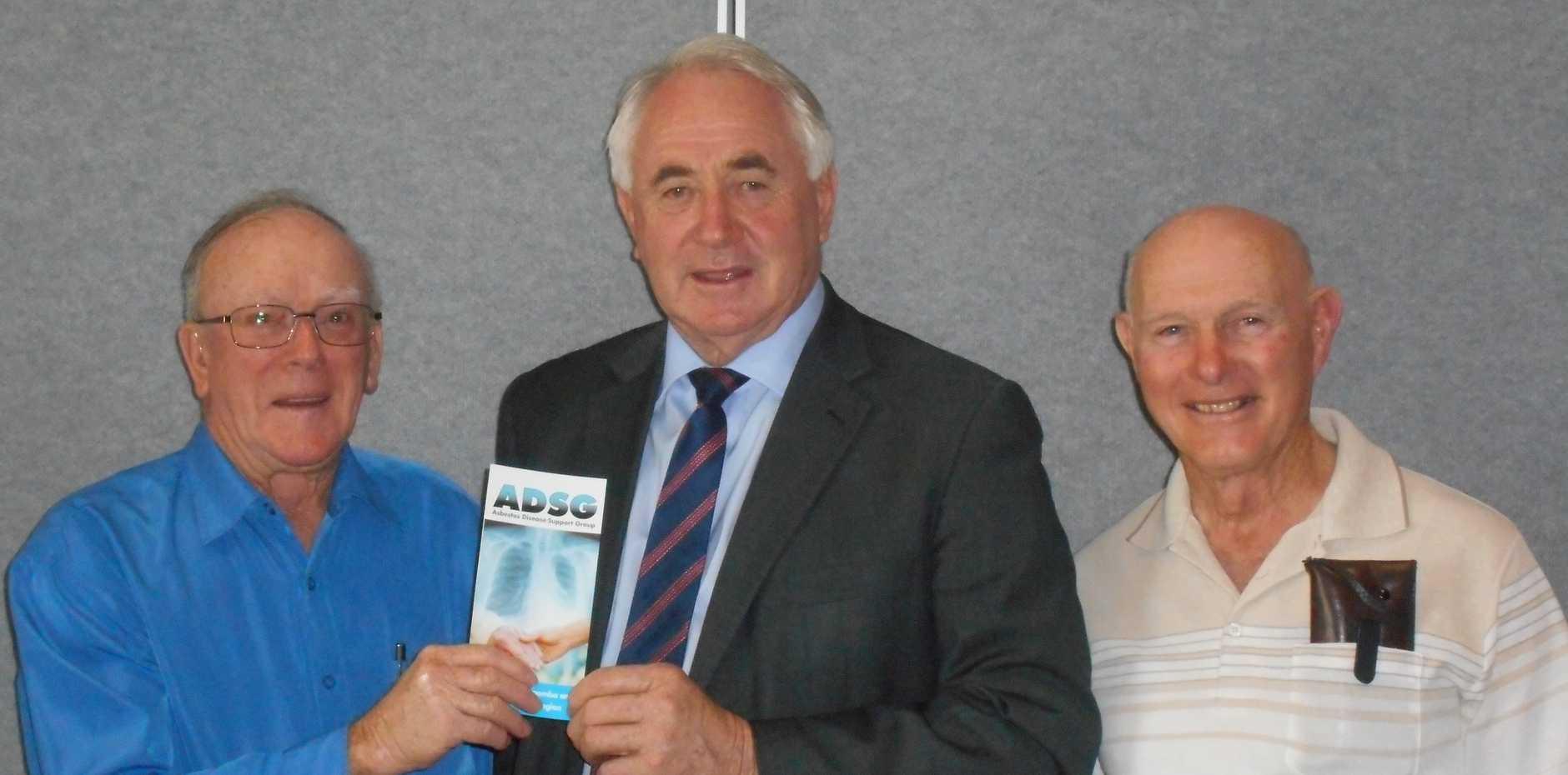 Left to Right:  Ted Williams, President ADSG, Paul Antonio, Toowoomba Regional Mayor, Wayne Bryan