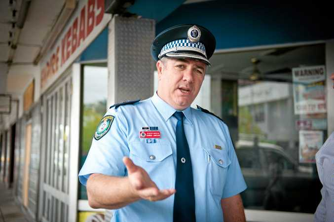 TAKING ACTION: Coffs-Clarence crime manager Detective Inspector Darren Jameson says there's no place for illicit drugs in Bellingen.