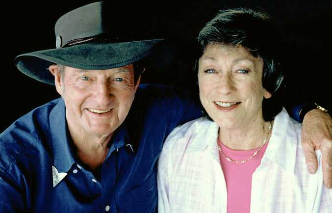 HONOURED: The late Slim Dusty pictured with his wife Joy McKean.