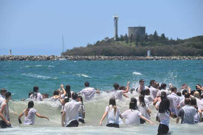 Schoolies hit the beach on the Sunshine Coast