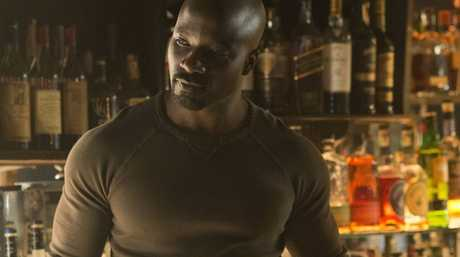 Mike Colter in a scene from the TV series Marvel's Jessica Jones.