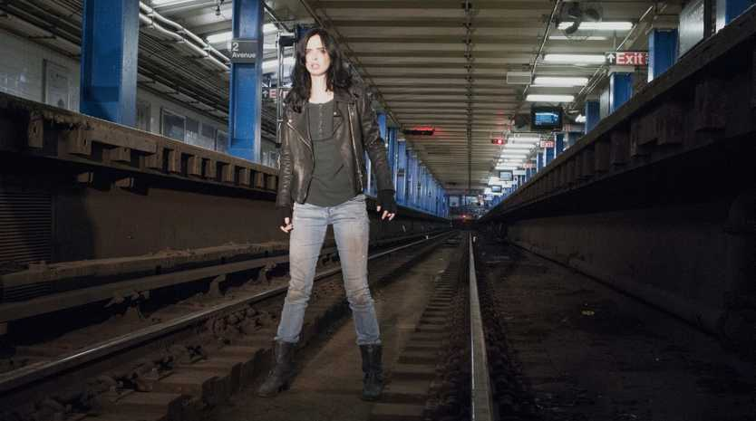 AVAILABLE NOW: The first whole season of Jessica Jones is now on Netflix.