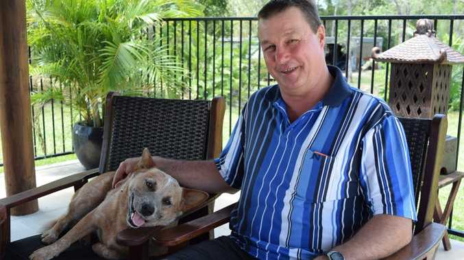 Allan Dor with Rusty the pooch share story of over the phone scam.