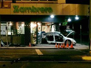 Zambrero restaurant closed after car crashes through doors
