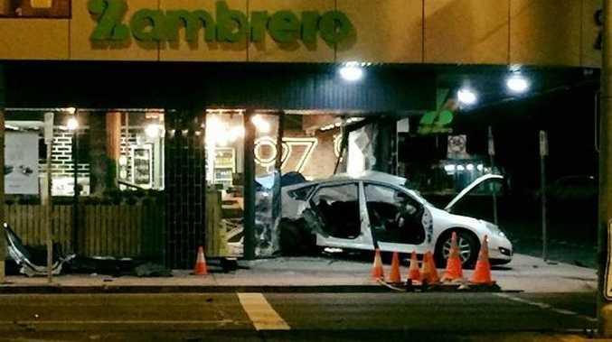 Crash at Zambrero Mackay CBD.