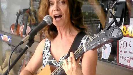 Kim Banffy was among the buskers that took to the streets during the popular festival.
