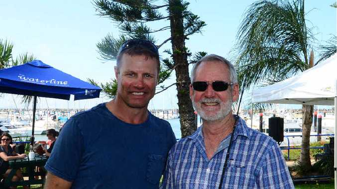 MEET AND GREET: Former rugby league star Andrew Ettingshausen was on the Capricorn Coast to film his TV show and meet fans at the Waterline Cafe.
