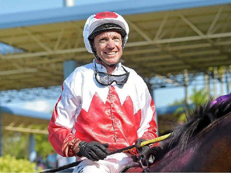JAMES WAS SMILING DOWN: James Ackerman's uncle, jockey Greg Ryan, won race six at Corbould Park yesterday on The Iliad.