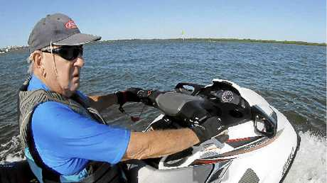 PURE GOLD: Frank Nelson, 87, is the envy of blokes half his age when he's on his super-charged jet ski.