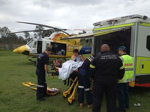 Woman freed from truck wreck near Boonah