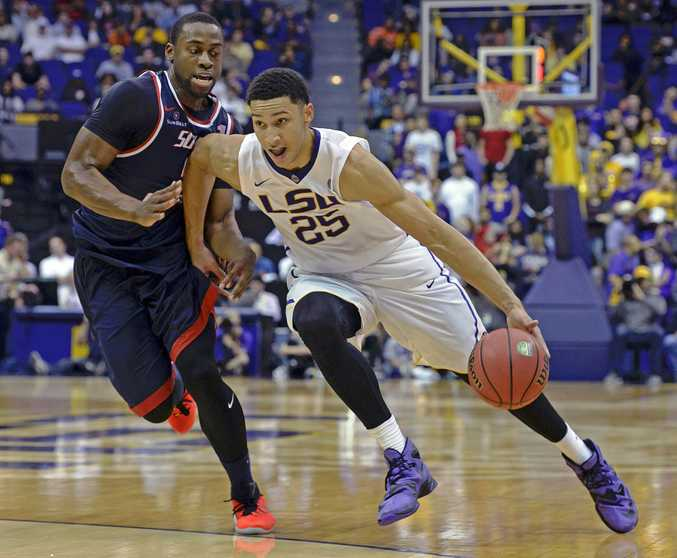 Australian Ben Simmons in action for LSU. Photo: AAP Image