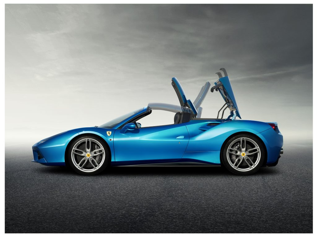 WIND IN THE HAIR: Ferrari's 488 Spider uses the retractable hard top which debuted on the 458 Spider, and can be raised and lowered in 14 seconds.