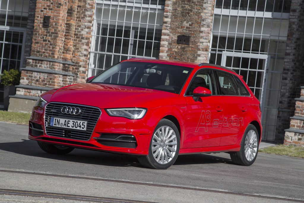 ON A CHARGE: Audi A3 Sportback e-tron has a quoted economy figure of 1.6-litres/100km, but you gotta pay to be green: at $62,490 it costs more than the rather less eco-friendly S3.
