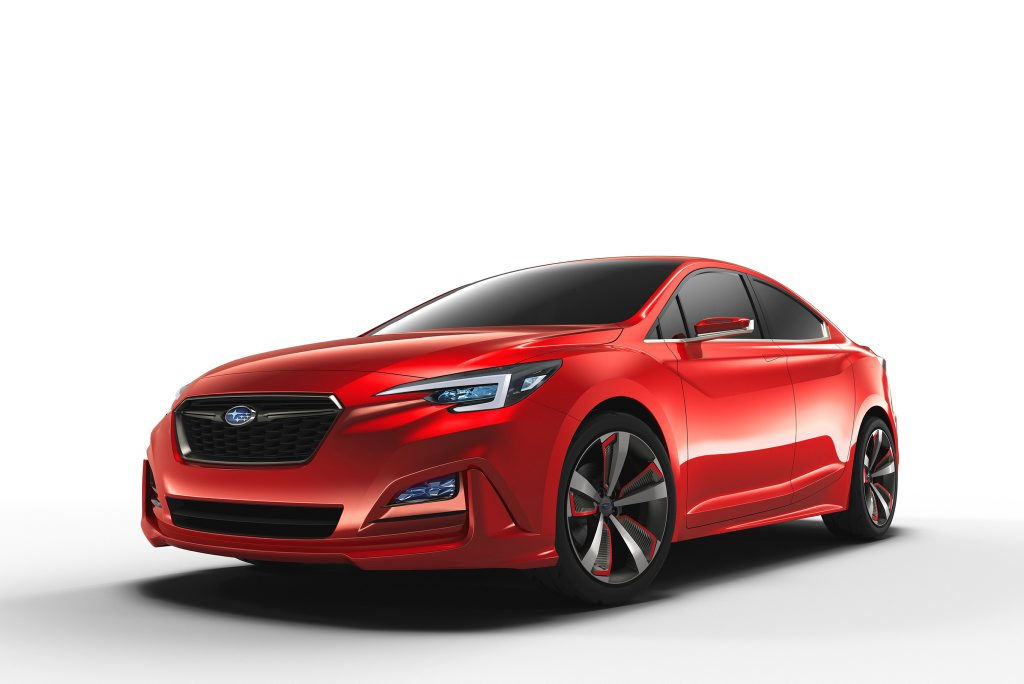 IMPREZA CONCEPT: Subaru's sedan concept has been shown at the Los Angeles Auto Show and suggests the style of 2017's next-gen model
