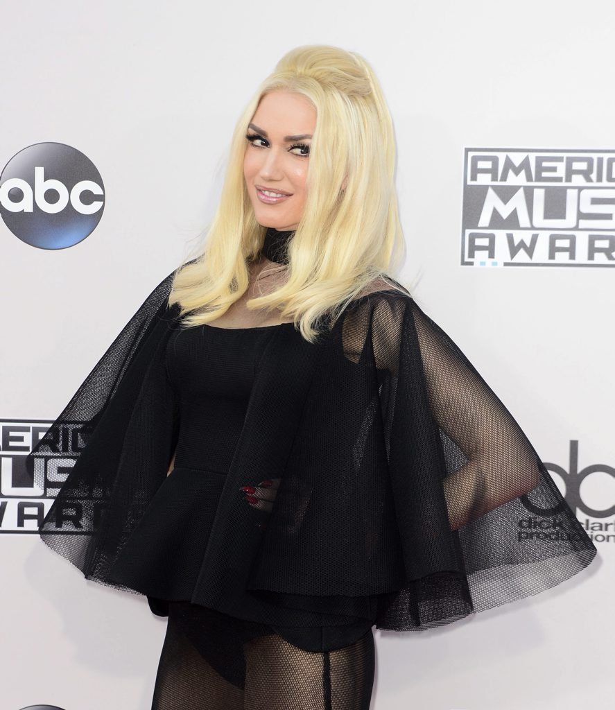 US singer-songwriter Gwen Stefani arrives for the 2015 American Music Awards at the Microsoft Theater in Los Angeles, California.